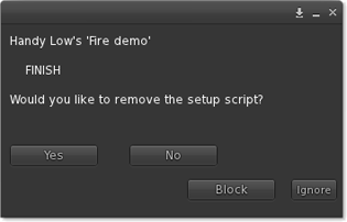 Remove setup script? Yes No