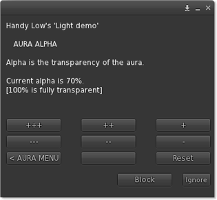 Aura alpha menu