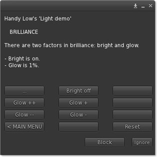 Brilliance menu