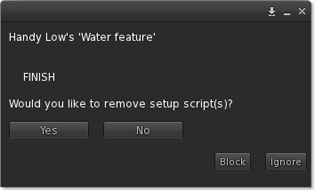 Would you like to remove setup script(s)? Yes No